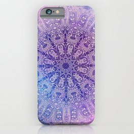 big paisley mandala in light purple iPhone Case