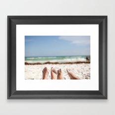 Feet in the Sand Framed Art Print