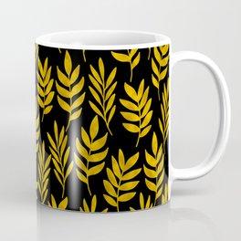 Golden leaf pattern Coffee Mug