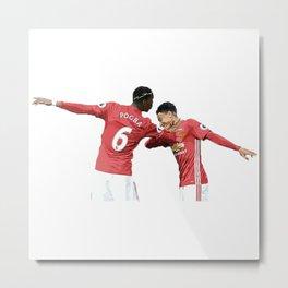 Pogba Lingard - Manchester United - Dab Metal Print