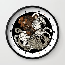 Sic Semper Draconis Wall Clock