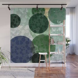 White Lines and Circles. Wall Mural