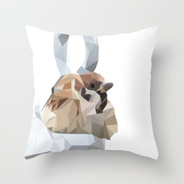 A bird will with strong effect Throw Pillow