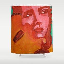 Chingona Chavela, La Joven Shower Curtain