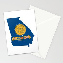 Flag Map of Georgia, 2001-2003 Stationery Cards