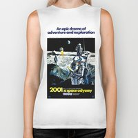 2001 Biker Tanks featuring 2001 by Neon Wildlife