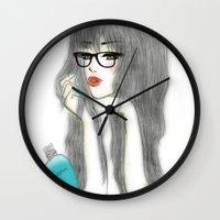 jasmine Wall Clocks featuring Jasmine by Teresa
