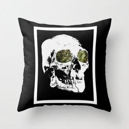 Money Skull Throw Pillow
