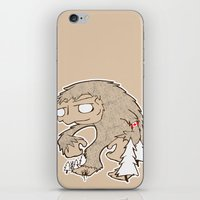 sasquatch iPhone & iPod Skins featuring Sasquatch by rebecca miller