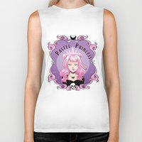 pastel goth Biker Tanks featuring Pastel princess by Stevie Wilson