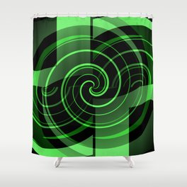 Mint & Licorice Fudge Shower Curtain