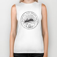 not all who wander Biker Tanks featuring NOT ALL WHO WANDER ... by Matthew Taylor Wilson