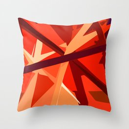 Red Fuel and Refuel Throw Pillow