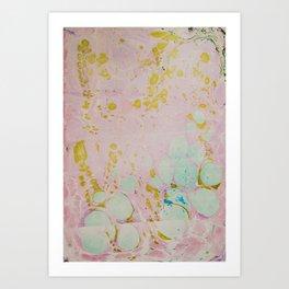 Ginger Root Hand Marbleized Art Print