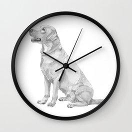 Labrador retriever Yellow Wall Clock