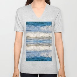 Abstract Waves splashing off the Queensland coast, Australia kaleidoscope Unisex V-Neck