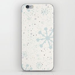 Cute Seamless Winter Pattern with subtle snowflakes iPhone Skin