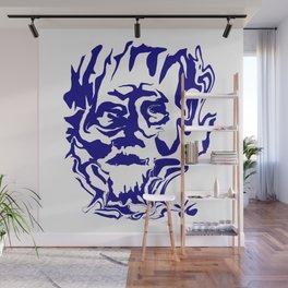 face5 blue Wall Mural