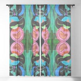 六 (Liù) Sheer Curtain