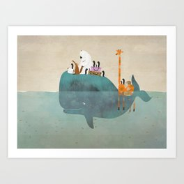 summer holiday Art Print