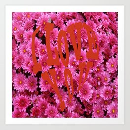 loves flower Art Print