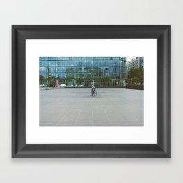 Radical inflection Framed Art Print