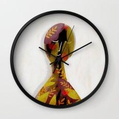 introvert portrait Wall Clock