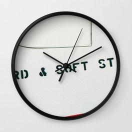 HARD & SOFT START Wall Clock