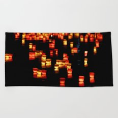 Floating Laterns Beach Towel