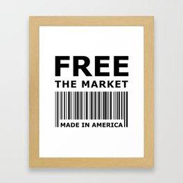 Free The Market Framed Art Print