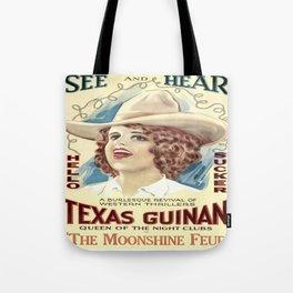 Vintage poster - The Moonshine Feud Tote Bag