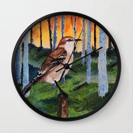 Mocking bird Wall Clock