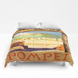 Vintage Pompei Italy Travel Comforters
