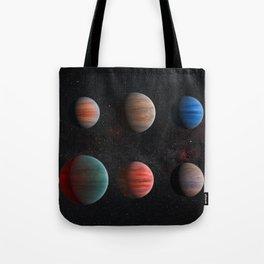 Planets : Hot Jupiter Exoplanets Tote Bag