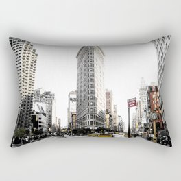 Desaturated New York Rectangular Pillow