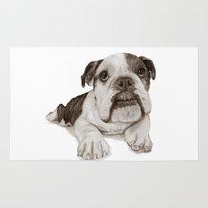 A Bulldog Puppy :: Brindle  Rug