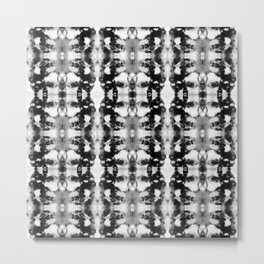 Tie-Dye Blacks & Whites Metal Print