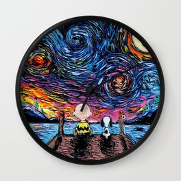 van gogh snoopy Wall Clock