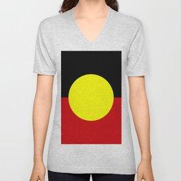 Flag of the australian Aboriginal Unisex V-Neck