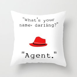 What's your name, darling? Throw Pillow