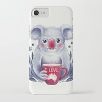 australia iPhone & iPod Cases featuring I♥Australia by Lime