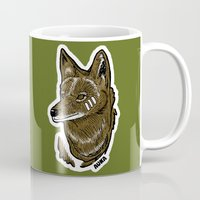 coyote Mugs featuring Coyote by Sergio Campos