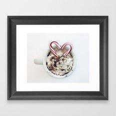 i heart hot chocolate Framed Art Print
