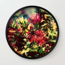 Double Exposure - Hana Wall Clock