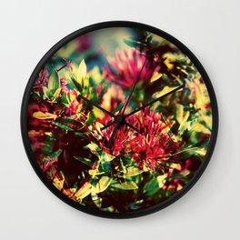 Double Exposure - Hana Wall Clock