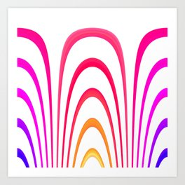 Cheerful lines Art Print