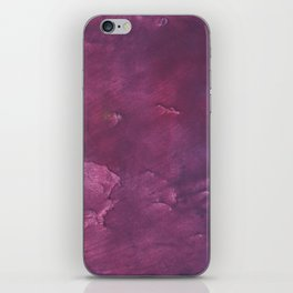 Dark purple vague watercolor iPhone Skin