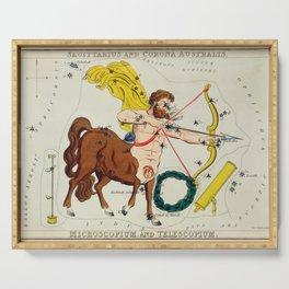 The Centaur Sagittarius With Bow And Arrow Serving Tray