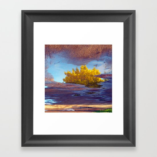 Spring in a puddle! Framed Art Print