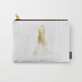 Little Gold Halter Dress Carry-All Pouch
